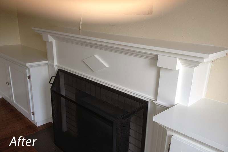 Fireplace Mantle After
