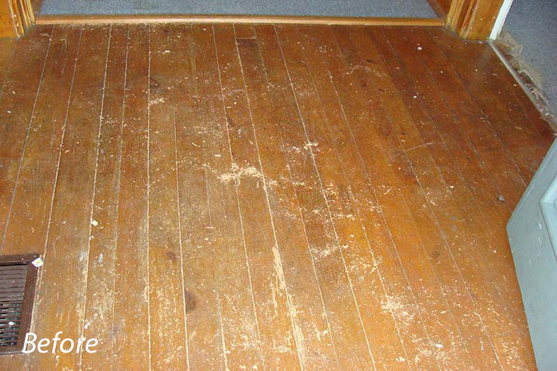 Pine Floors Before