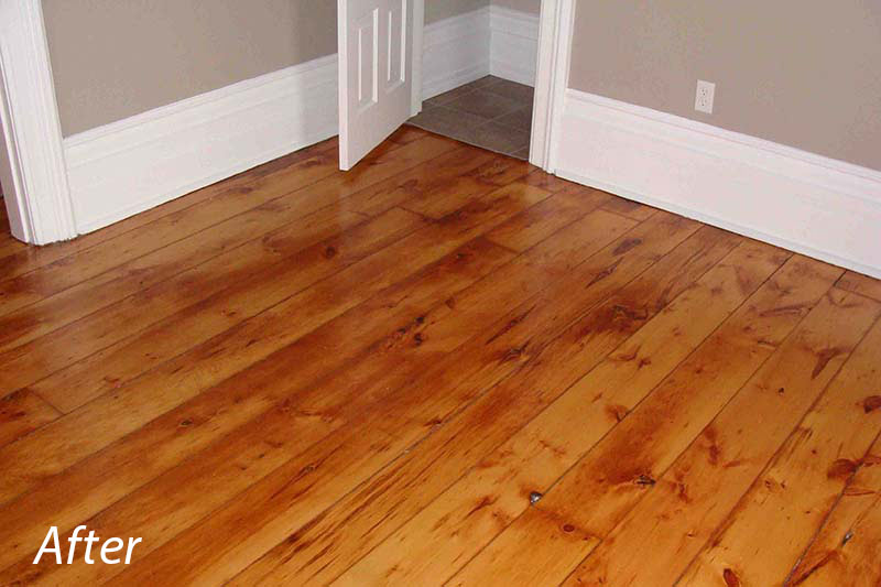 Pine Floors After