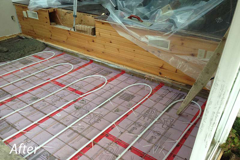 Solarium Heated Floor After